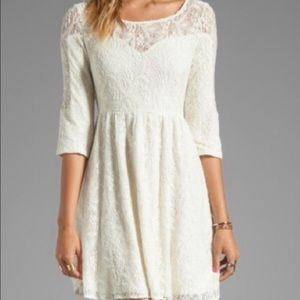 ✌🏻Free People White Lace Dress✌🏻